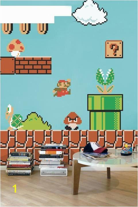 Super Mario Decals Game Room Vintage Nintendo Decals Super Mario Wall Designs