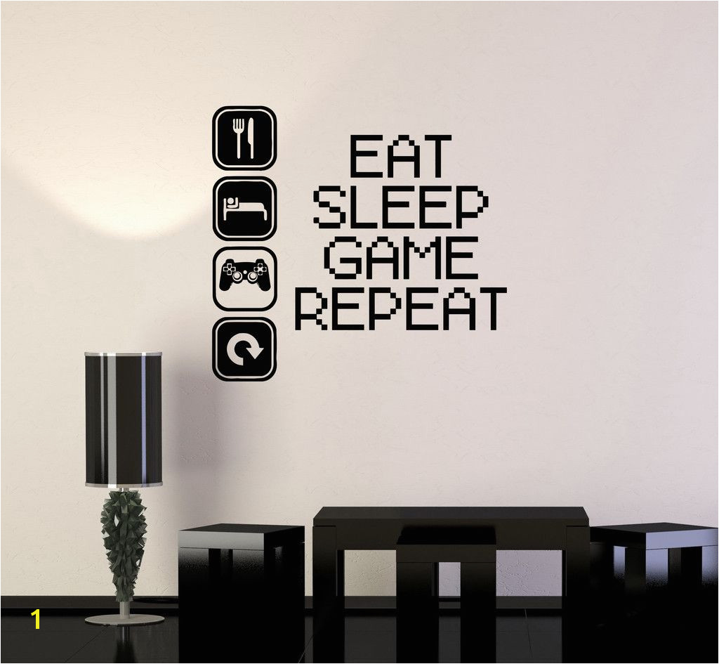 Game Room Wall Murals Vinyl Decal Gaming Video Game Gamer Lifestyle Quote Wall Sticker