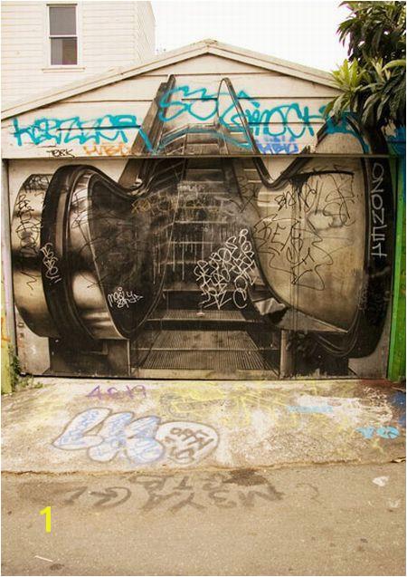 Garage Murals Sale Cool Garage Gate Cool Gates Pinterest