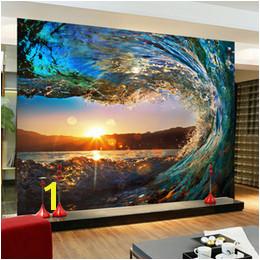 sunset murals 2019 Wholesale Custom 3D Wallpaper Living Room Sofa Background Wallpaper 3D