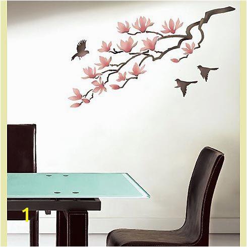 Magnolia Wall Art Stencil Robin