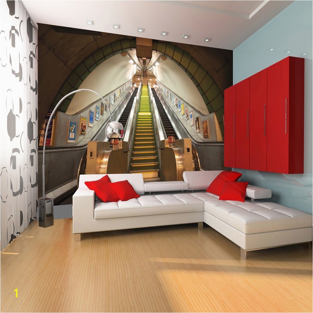 Wall 1 Wall Subway London Underground Giant Wallpaper Mural 1000x1000