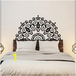 Headboard Wall Sticker Wall Mural Bed Bedside Mandala Vinyl Decals Kids Room Bedroom Giant Headboard Flower Home Decor