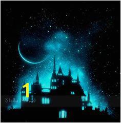 Fairytale Castle Star Poster Glow In The Dark Castle Poster