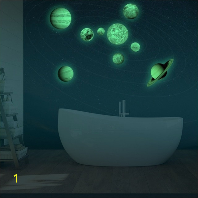 Glow In the Dark Star Murals Us $10 46 Off Planets Fluorescent Wall Sticker Removable Glow In the Dark Planets Sticker Luminous Diy Wall Sticker solar System Wall Mural In