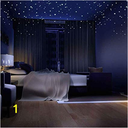 APURSUE Glow In The Dark Stars Wall Stickers 318 Adhesive Dots and Moon for Starry Sky