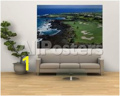 Aerial Francis H Li Brown Golf Course Hawaii USA by Christian Kober Landscapes Wall MuralsWall