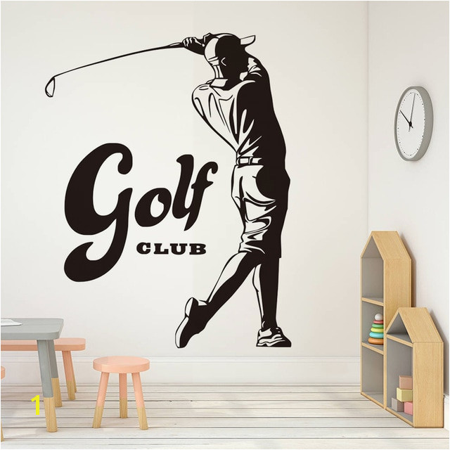 Sports Game Golf Waterproof Wall Stickers For Bedroom Vintage Golf Player Pattern Vinyl Art Wall Decals Home Decor Wallpaper
