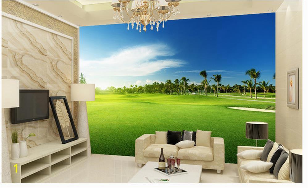 3d wallpaper 3d angepasst tapete Golf wiese landschaft wandmalereien tapeten für wohnzimmer 3d wallpaper in 3d wallpaper 3d angepasst tapete Golf wiese