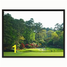 Augusta Golf Course Canvas Print Frames Home Décor Wall Art Gifts