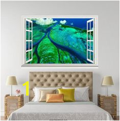 3D Aldabra Atoll Sechelski Islands Indian Ocean window wall sticker art decal IDCCH LS