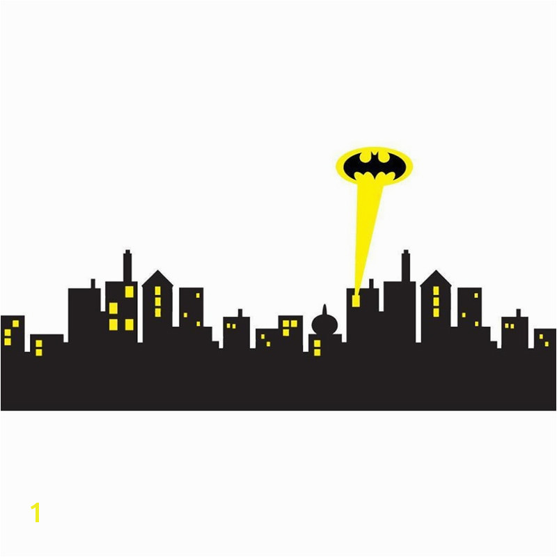 5 sizes GOTHAM CITY SKYLINE Batman Decal Removable WALL STICKER Home Decor Art