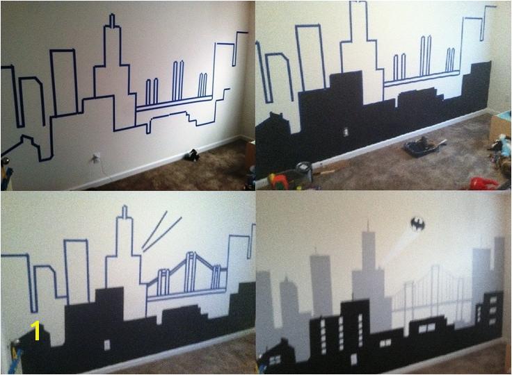 Gotham City Wall Mural City Wall Paintings