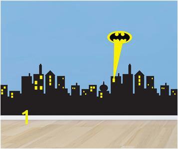 Gotham City Wall Mural Poomoo Wall Decals 5 Sizes Gotham City Skyline Batman Decal