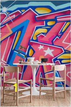 Graffiti pink Wall mural