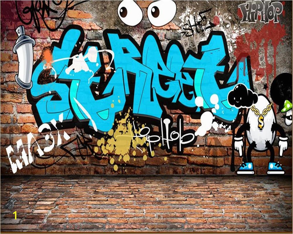 Beibehang wallpaper for walls 3 d Custom mural wallpaper graffiti english brick wall tooling background wall wallpaper murals