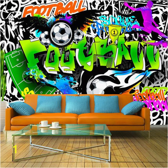 Wallpaper Wall Murals Non Woven Graffiti Football Soccer Art Modern Design Wall Decals Bedroom Decor Home Design Wall Art Decals 119