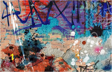 grunge graffiti plain wall murals