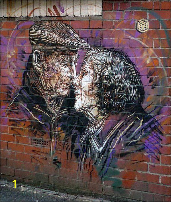 Manchester nuovo pezzo dello street artist francese C215 Manchester Street Manchester Uk