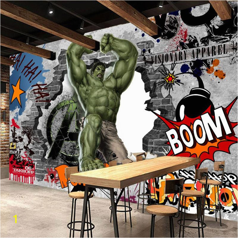 Graffiti Wall Murals Uk Vintage Graffiti Wall Mural Avengers Wallpaper Custom 3d Hulk
