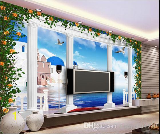 3D Wallpaper Custom 3d Wall Murals Wallpaper Mural Fantasy 3d Stereo European Greek Roman Column TV Background Wall Free Wallpaper Backgrounds Free