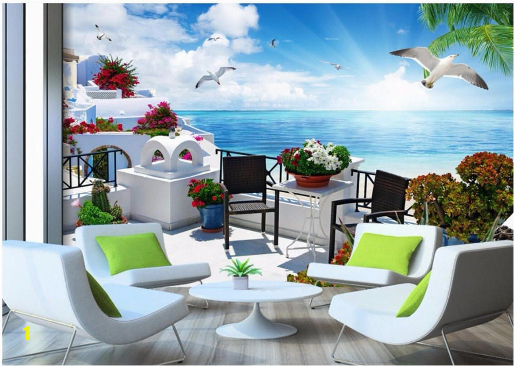 Custom mural 3d room wallpaper Landscape The Greek Aegean sea wall papers home decor 3d wall