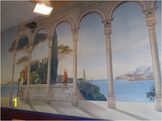 Tino s Greek Cafe Interior wall murals