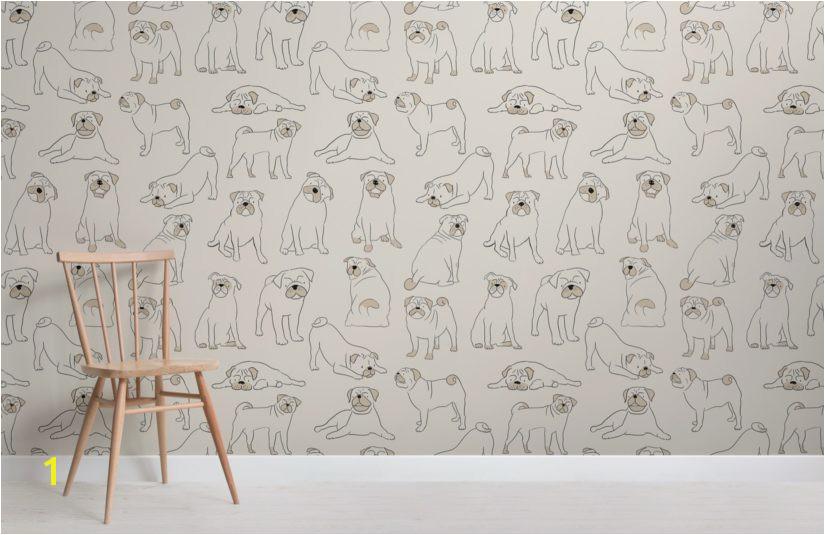 Pug Wallpaper Mural