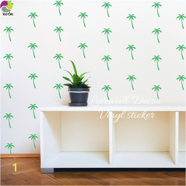 Palm Tree Wall Sticker Baby Nursery Kids Room Summer Beach Plant Wall Decal Bedroom School Classroom Vinyl Art Decor Mural DIY