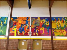 Lefler Gym Murals