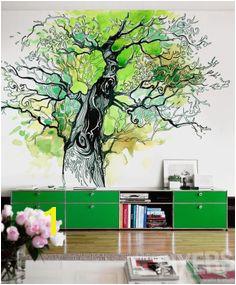 Papier peint Tree of Life inspiration papier peint la galerie des intérieurs• PIXERS