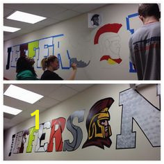 Jefferson High School Sports Mural Hands on DC High School Classroom High School Counseling
