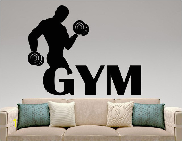 Gymnastics Wall Murals Aliexpress Buy Black Vinyl Gym Wall Decal Fitness Wall