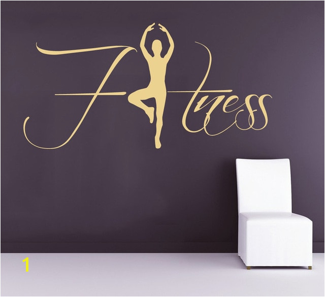 Gymnastics Wall Murals Aliexpress Buy Fitness Wall Decals Sportwoman Sport Girl Gym