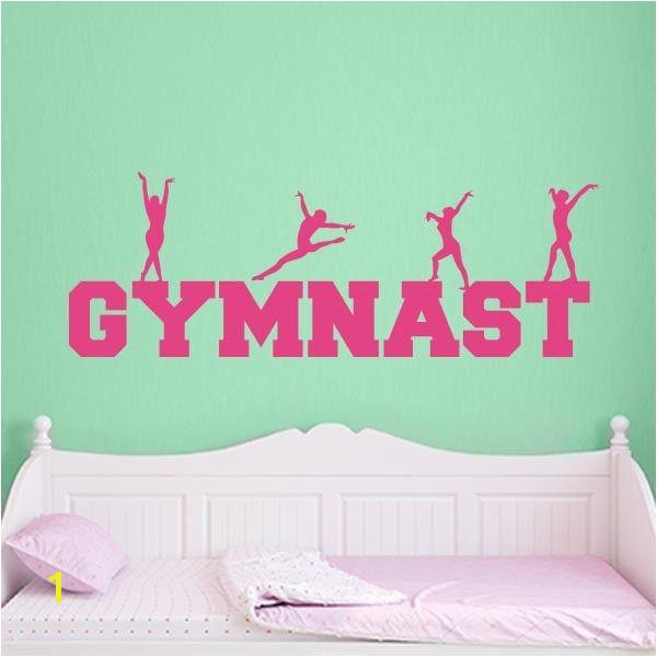 Gymnastics Wall Murals Gymnast Word Art Wall Decal Sports Wall Decals
