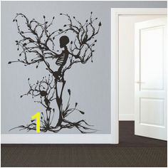 Details about Halloween Skeleton Wall Decal Removable Vinyl Tree of Life Room Mural Art Decor