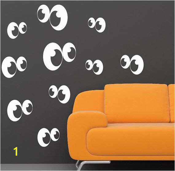 Halloween Ghost Eyes Wall Decals these would be perfect for a painted room or even a white room after applying glow in the dark paint to them