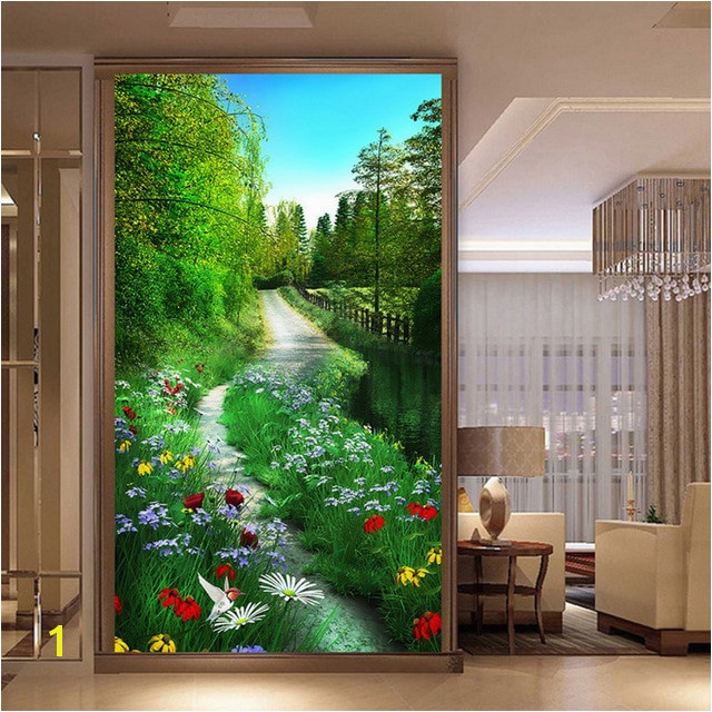 Custom Mural Wallpaper 3D Forest Path Nature Scenery Painting Fresco Living Room Entrance Hallways Backdrop Wall Papers 3D Decor