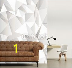 Wall mural White crumpled abstract background
