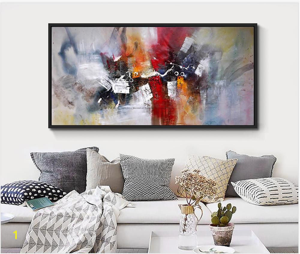 2017 hand painted large size Abstract wall art canvas mural paintings pictures canvas picture for living room wall decor Yesterday s price US $29 90