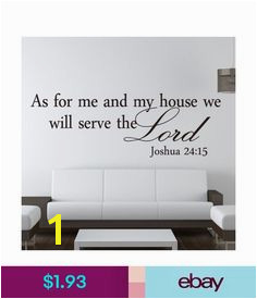 Decals Stickers & Vinyl Art Christian As For Me We Will Serve The Lord English Handmade Wall Stickers Art & Garden