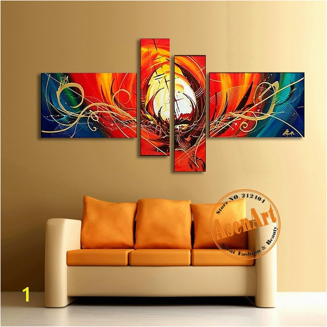 Abstract Canvas Oil Painting Handmade Modern Abstract Wall Art Picture Red Paintings for Living Room Home Decor No Frame