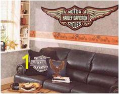 HARLEY DAVIDSON WALLPAPER BORDERS WALL DECALS and MURALS Harley Davidson Decals Harley Davidson Motorcycles