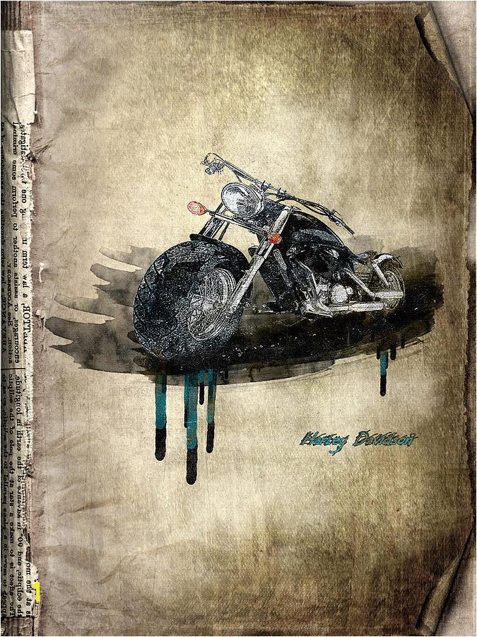 Active Digital Art Harley Davidson by Svetlana Sewell