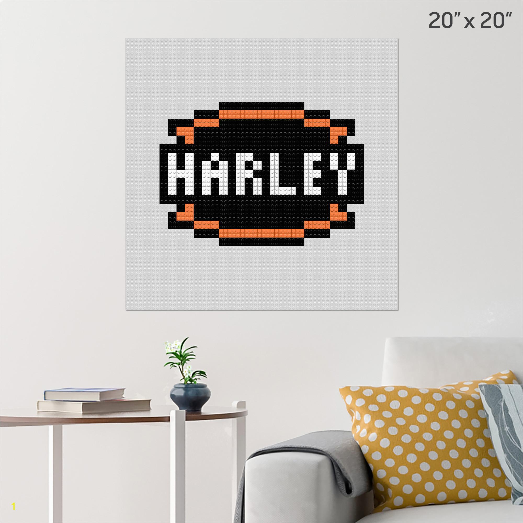 Harley Davidson Wall Murals Harley Davidson Wall Art 2019 Harley Davidson Pixel Art – Brik