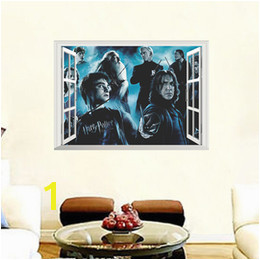 Harry potter wall decor online shopping Harry Potter Decorative Wall Stickers D Window Hogwarts Wizarding