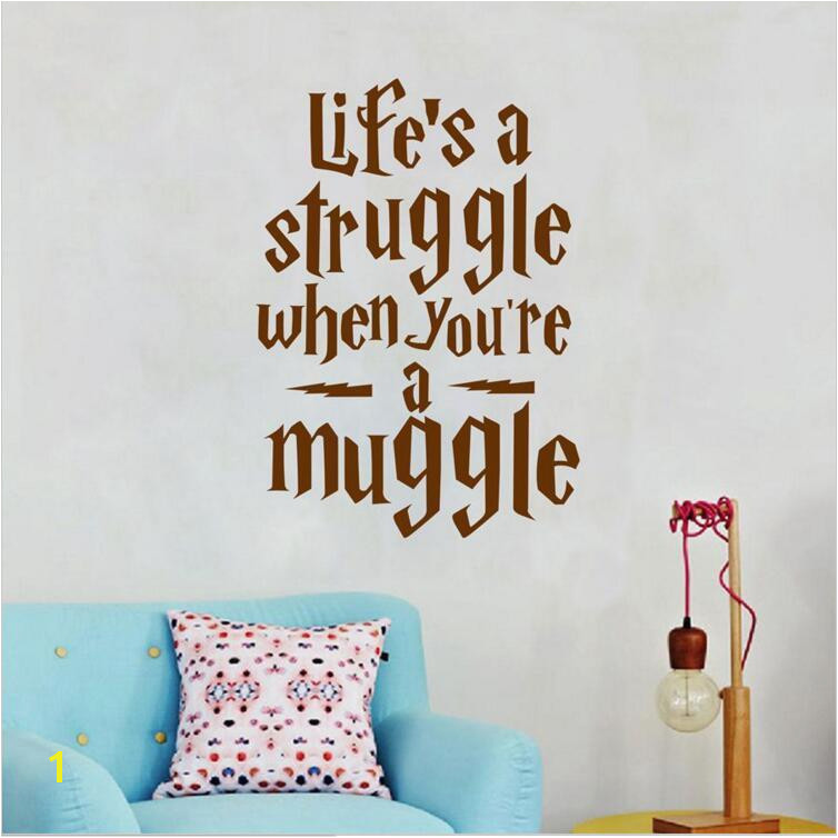 Harry Potter Wall Decals Vinyl Life Quotes Wall Art Decals For Living Room Bedroom Home Decor Motivation Wall Sticker Stickers The Wall Decoration