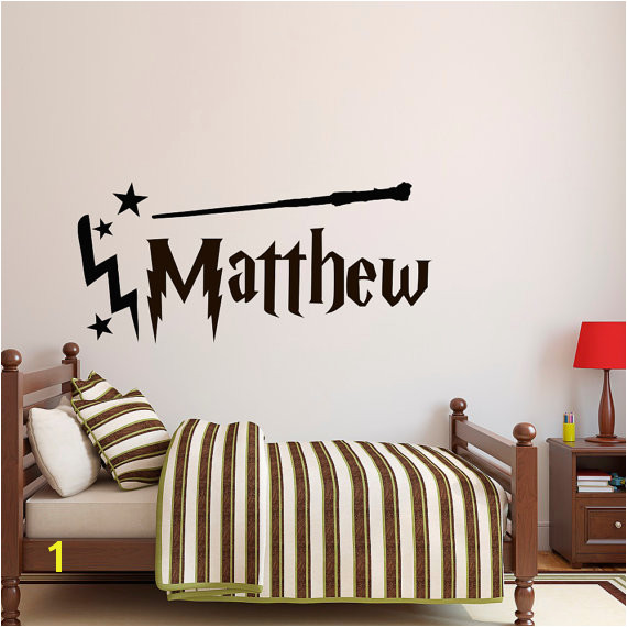 Personalized Name Wall Decal Boy Name Wall Decal Harry Potter Wall Decal Name Wall Decals Nursery
