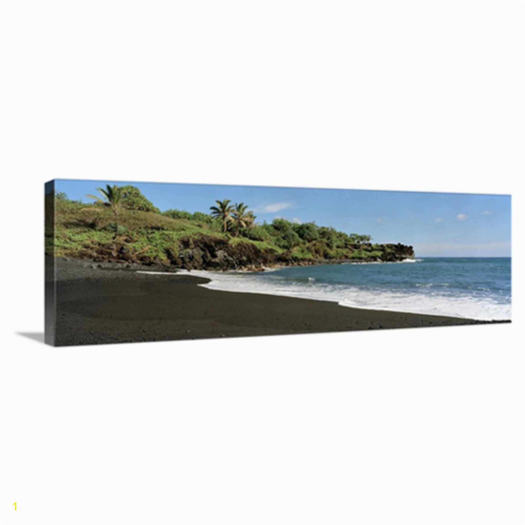 Great BIG Canvas Surf on the Beach Black Sand Beach Maui Hawaii Canvas Wall Art Print