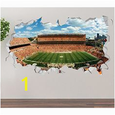 Pittsburgh Steelers Heinz Field Wall Decal Smashed 3D Sticker Vinyl Decor Mural NFL Broken Wall